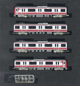Keikyu Type New 1000 Stainless Car (with SR Antenna / Rollsign Lighting / Car Number Selectable) Four Car Formation Set (w/Motor) (4-Car Set) (Model Train)