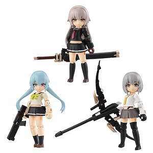 Desktop Army Heavily Armed High School Girls 1st Squad (Set of 3) (PVC Figure)