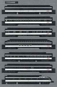 Canadian National Trans Continental Train Seven Car Set (7-Car Set) (Model Train)
