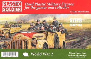 German Steyr Heavy Car (Set of 3) (Plastic model)