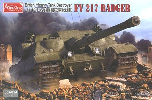 British Tank Destroyer FV217 Badger (Plastic model)