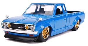 JDM TUNERS 1972 DATSUN 620 Pickup Gross Blue (ミニカー)