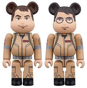 Be@rbrick Ghostbusters 100% 2PC Set Raymond Stantz/Egon Spengler (Completed)