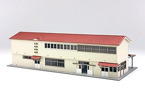 1/150 Scale Paper Model Kit Station Series 26 : Regional Station Building/Shichinohe Station (Unassembled Kit) (Model Train)