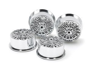 Wire Spoke Wheels for Low-Profile Tires (Silver Plated) (Mini 4WD)