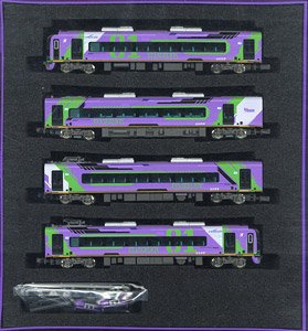 [Limited Edition] Meitetsu Series 2000 Evangelion Special Version Mu Sky Four Car Formation Set (w/Motor) (4-Car Set) (Pre-colored Completed) (Model Train)