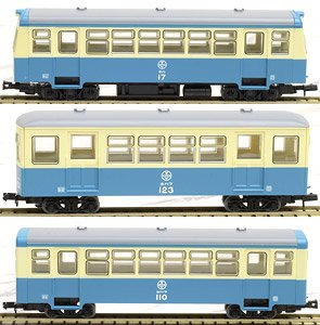 The Railway Collection Narrow Gauge 80 Tomii Electric Railway Nekoya Line Type KIHA17/HOHAFU123/HOHAFU110 New Color (3-Car Set) (Model Train)
