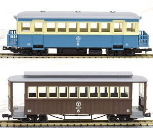 The Railway Collection Narrow Gauge 80 Tomii Electric Railway Nekoya Line Type KIHA8 New Color/HOHAFU6 Brown Color (2-Car Set) (Model Train)