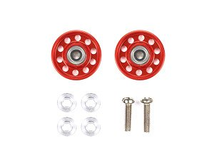 Lightweight 13mm Aluminum Ball-Race Rollers (Ringless/Red) (Mini 4WD)