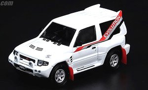 Mitsubishi Pajero Evolution White with Extra Wheels (Diecast Car)