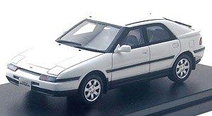 MAZDA FAMILIA ASTINA 1500 DOHC (1992) クリアホワイト (ミニカー)