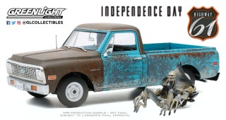 """1971 Chevrolet C-10 /"""" Independence Day /"""" 1996 Film *** Greenlight 1:64"""