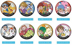 Can Badge Digimon Adventure (Set of 10) (Anime Toy)