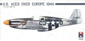 Hasegawa-Hobby2000 P-51B Mustang US Aces over Europe in 1:72 NEW