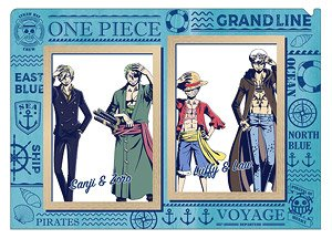 One Piece Charabae Clear File A Luffy Zoro Sanji Law Anime Toy Hobbysearch Anime Goods Store