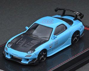 Mazda RX-7 (FD3S) RE Amemiya Light Blue (ミニカー)