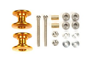 LW Double Aluminum Rollers (13-12mm Gold) (Mini 4WD)
