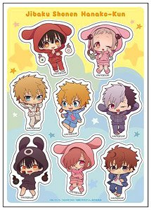 [Toilet-Bound Hanako-kun] Sticker Puni-Chara Pajama Ver. (Anime Toy)