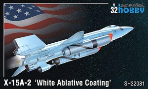 X-15A-2 `White Ablative Coating` (Plastic model)