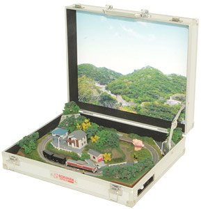 (Z) Mini Briefcase (Trunk) Layout [Hill Type] (Model Train)