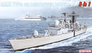 HMS Type 42 Destroyer Batch 3in1 (Plastic model)