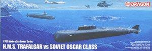 潜水艦 H.M.S.トラファルガー vs ソビエト オスカー (プラモデル)