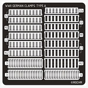 WWII German Panzer Clamps Type.A (4 Versions/60 Pices) (Plastic model)