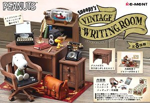 Snoopy Snoopy`s Vintage Writting Room (Set of 8) (Anime Toy)