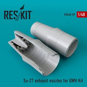 Su-27 Exhaust Nozzles (for Great Wall Hobby) (Plastic model)