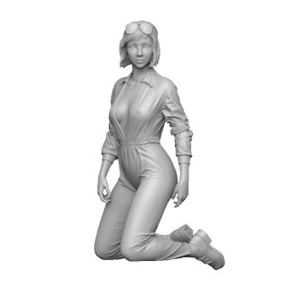 Unpainted Mechanic Soldier Figure 1//35 Film Robot Woman Model Resin Unassembled