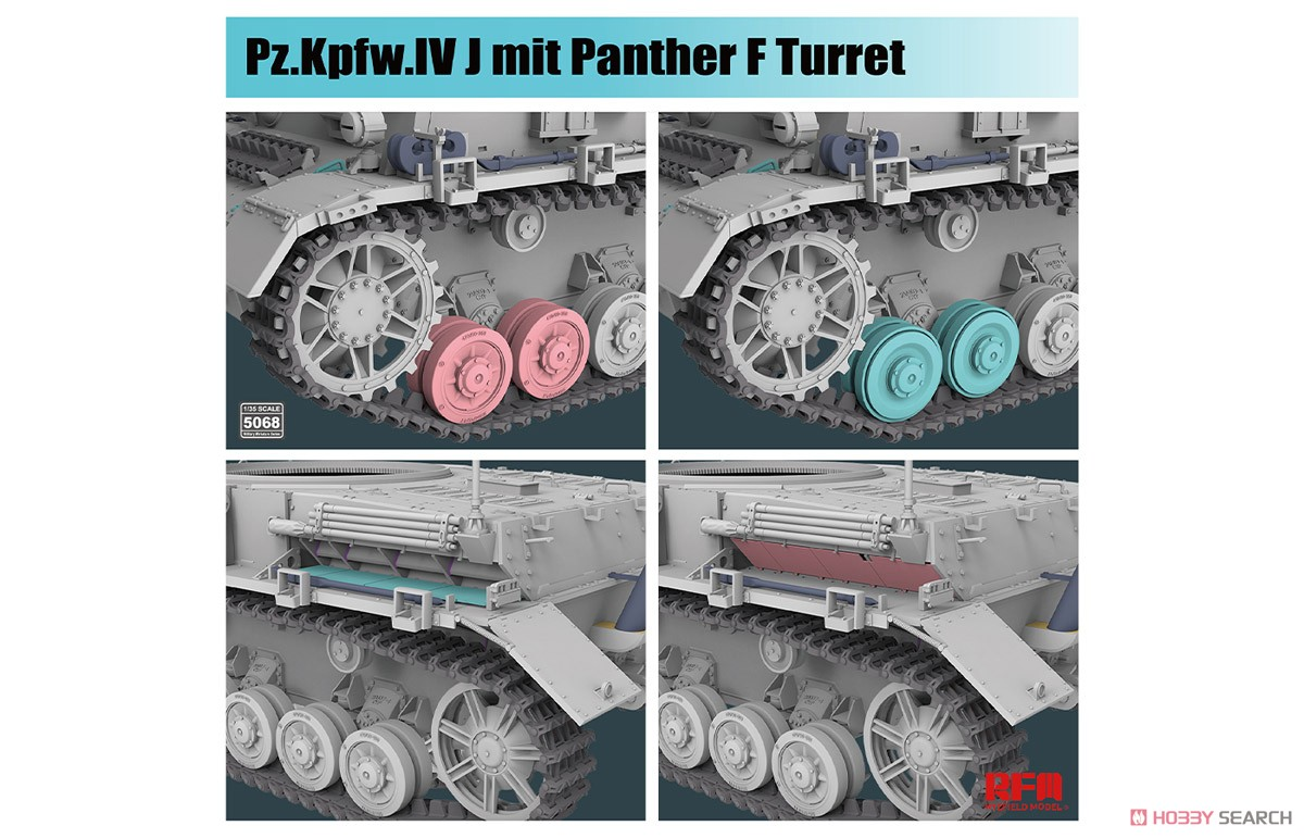 [Close] Pz.Kpfw.IV J mit Panther F Turret (Plastic model) Other picture3