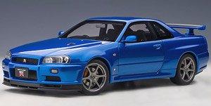 日産 スカイライン GT-R (R34) Vスペック II (ベイサイドブルー) (ミニカー)