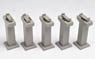 Concrete Pier Set (5 piers 55mm high) (Model Train)
