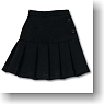 Pleats Mini Skirt (Black) (Fashion Doll)