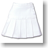 Pleats Mini Skirt (White) (Fashion Doll)