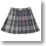 Pleats Tartan Check Skirt (Beige Tartan) (Fashion Doll)