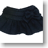 For 23cm Ribbon Miniskirt (Black) (Fashion Doll)