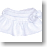 For 23cm Ribbon Miniskirt (White) (Fashion Doll)