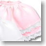 Two-Tiered Frill Skirt (Pink) (Fashion Doll)