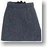 For 27cm Secretary Mini Skirt (Gray) (Fashion Doll)