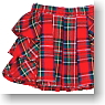 Size Frill Mini Skirt (Red Tartan) (Fashion Doll)