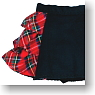 Size Frill Mini Skirt (Black & Red Tartan) (Fashion Doll)