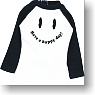 Smile Print T-Shirt (Black/White) (Fashion Doll)