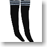 Line High Sox (Black/White) (Fashion Doll)