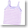 Border Camisole (Purple/White) (Fashion Doll)