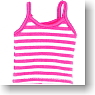 Border Camisole (Pink/White) (Fashion Doll)
