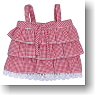 Check Camisole (Red Gingham) (Fashion Doll)