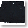 Frill Mini Skirt (Black) (Fashion Doll)