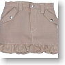 Frill Mini Skirt (Beige) (Fashion Doll)