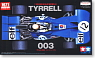 Tyrrell 003 (w/Photo-Etched Parts) (Model Car)